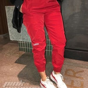 Pants - Red joggers